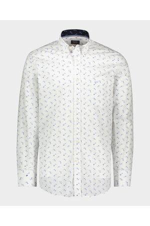 Paul & Shark Men Shirts - Organic Cotton Poplin Shark Print Shirt