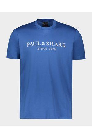 Paul & Shark Men Short Sleeve - Organic Cotton T-Shirt With Printed Heritage