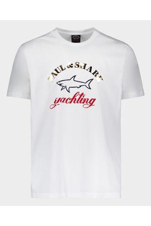 Paul & Shark Organic Cotton T-Shirt With Gold Printed Logo