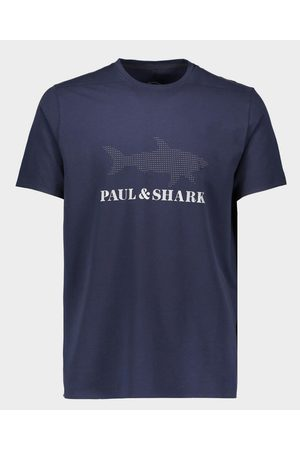 Paul & Shark Stretch Cotton T-Shirt With Reflective Printed Logo