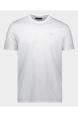 Paul & Shark Organic Cotton T-Shirt With Gold Placquered Metallic Shark