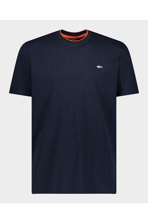 Paul&Shark Organic Cotton T-Shirt With Shark Badge