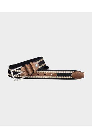 Paul & Shark Leather Trimmed Webbing Belt