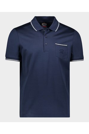Paul & Shark Organic Cotton Jersey Polo With Embroidered Logo