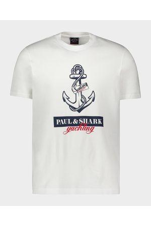 Paul & Shark Organic Cotton T-Shirt With Anchor Print