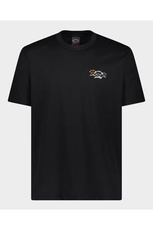 Paul & Shark Organic Cotton T-Shirt With Printed Logo