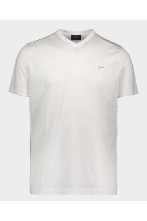 Paul & Shark Organic Cotton T-Shirt With Metallic Shark