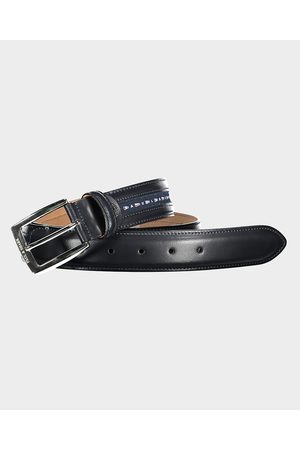 Paul & Shark Leather Belt With Nautical Flags Ribbon
