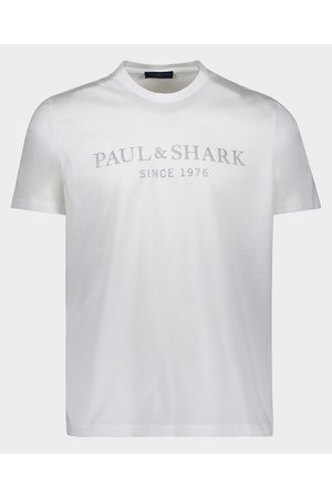 Paul & Shark Organic Cotton T-Shirt With Printed Heritage