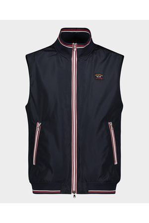 Paul & Shark Vest With Knitted Rib And Contrast Zip