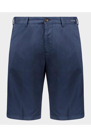 Paul & Shark Men Stretch Pants - Stretch Silk And Cotton Bermuda