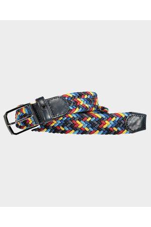 Paul&Shark Leather Trimmed Multicolor Elastic Belt