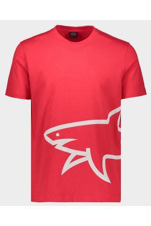 Paul&Shark Organic Cotton T-Shirt With Printed Mega Shark