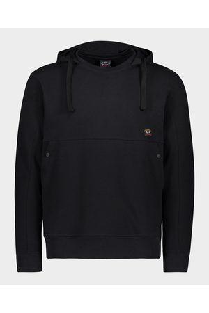 Paul&Shark Organic Cotton Hoodie Sweatshirt With Iconic Badge