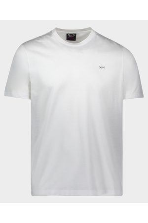 Paul&Shark Organic Cotton T-Shirt With Metallic Shark