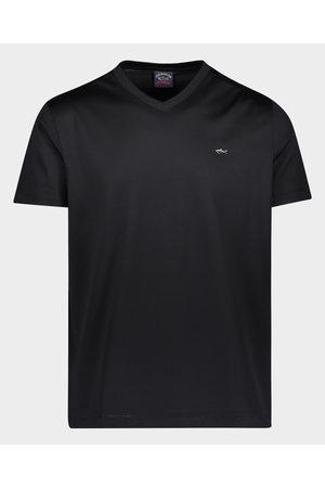 Paul&Shark Men Short Sleeve - Organic Cotton T-Shirt With Metallic Shark
