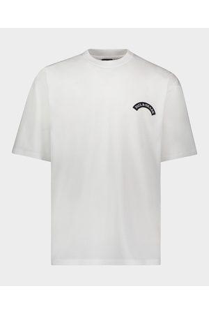 Paul&Shark Organic Cotton T-Shirt With Printed Shark