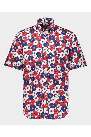 Paul & Shark Men Shirts - Organic Cotton Poplin Printed Shirt