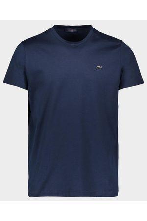 Paul&Shark Organic Cotton T-Shirt With Gold Placquered Metallic Shark
