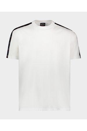 Paul&Shark Men T-shirts - Organic Cotton T-Shirt With Logo Tape