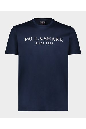 Paul&Shark Men T-shirts - Organic Cotton T-Shirt With Printed Heritage