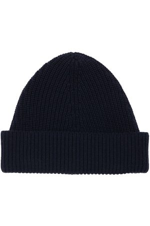 Maison Margiela Cotton & Wool Blend Beanie Hat