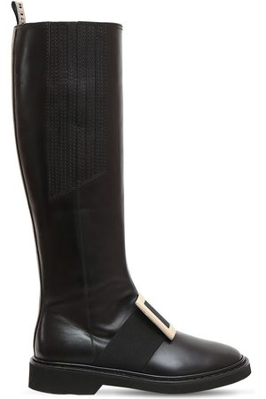 Roger Vivier Women Thigh High Boots - 30mm Viv Rangers Leather Tall Boots