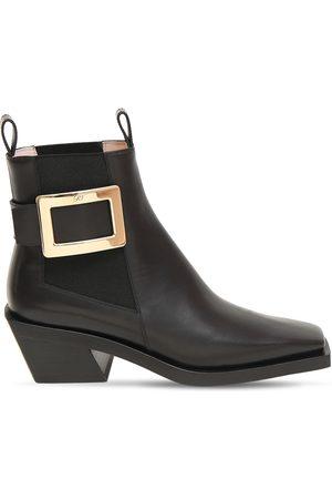 Roger Vivier 55mm Belle Vivier Leather Western Boots