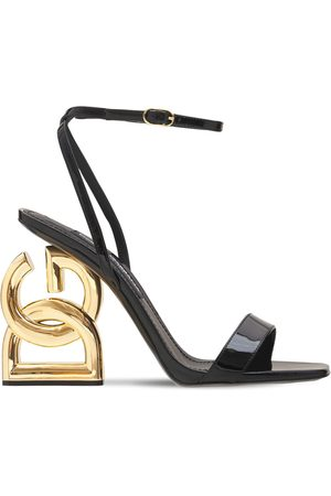 Dolce & Gabbana 105mm 90's Logo Patent Leather Sandals