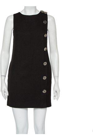 Tory Burch Wool Button Detail Sleeveless Shift Dress M