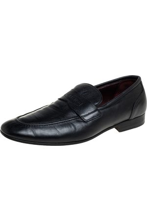 VALENTINO Leather Slip on Loafers Size 40