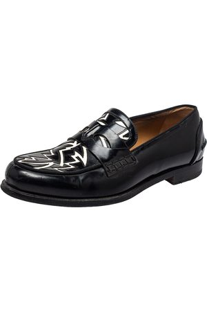 Christian Louboutin /White Patent Leather Slip On Loafers Size 41