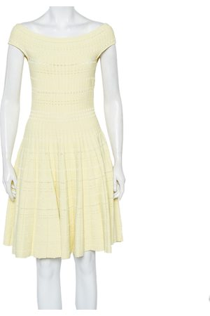 Alexander McQueen Knit Flared Off Shoulder Dress L