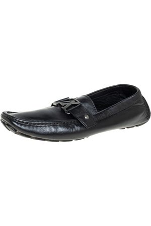 LOUIS VUITTON Leather Monte Carlo Loafers Size 43