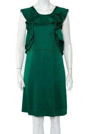 Chloé Wool & Silk Ruffle Detail Sleeveless Mini Dress M