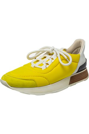 Hermès Nylon And Suede Low Top Sneakers Size 38