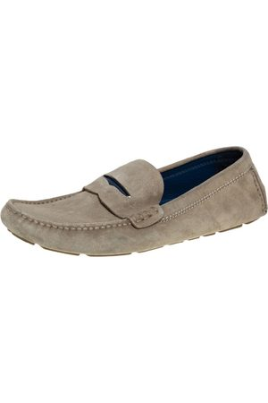 Louis Vuitton Suede Penny Slip On Loafers Size 43