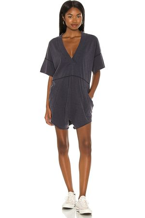 Free People Why Not Romper in Navy.