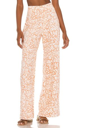 Free People Love So Right Wide Leg Pant in Peach.