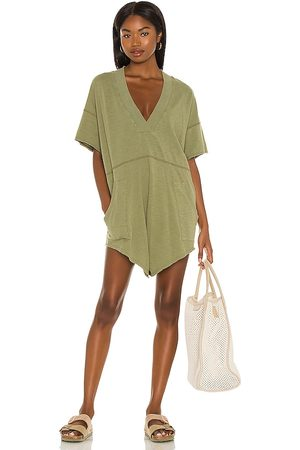 Free People Why Not Romper in Sage.