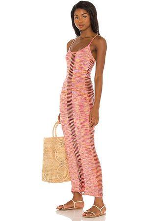 lovewave Alessandra Knit Dress in Orange.