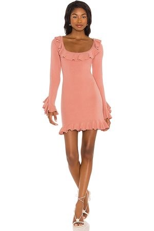 LPA Ruffle Sweater Dress in Blush.
