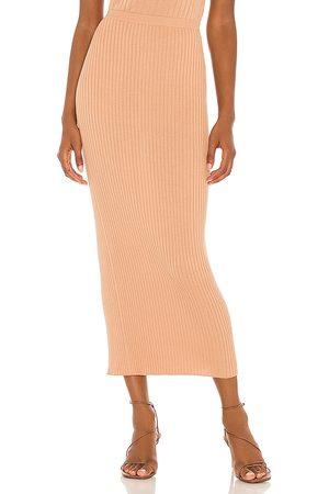 LPA Daya Midi Skirt in Tan.