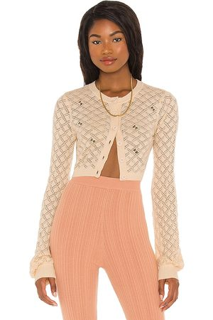 LPA Daphne Embroidered Cardigan in Ivory.