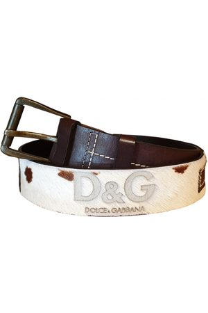 Dolce & Gabbana Ecru Leather Belts