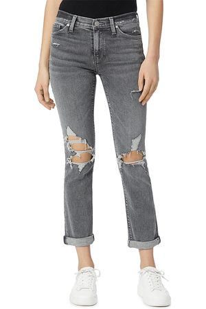 Hudson Women Straight - Nico Mid Rise Ankle Straight Leg Jeans in Night Moves