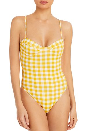 FAITHFULL THE BRAND Women Swimsuits - Bea Gingham Underwire One Piece Swimsuit