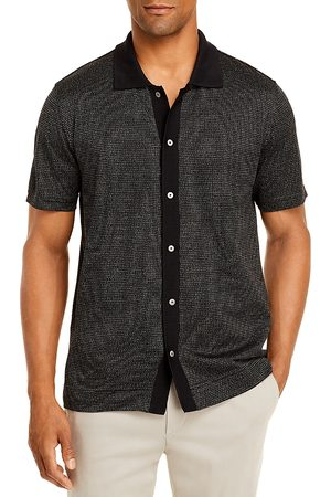 THEORY Chrome Button Front Polo Shirt