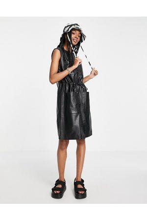 Muubaa Olivia sleeveless utility leather dress in