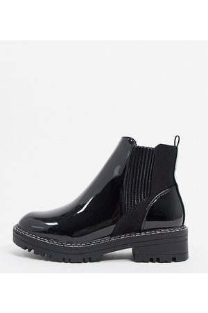 River Island Women Chelsea Boots - Wide Fit patent chunky chelsea boot in